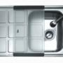 Мойка из нержавеющей стали Teka Cuadro 45 B (чаша справа) Полировка