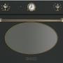 Компактный духовой шкаф с микроволновой печью Smeg SF4800MCAO